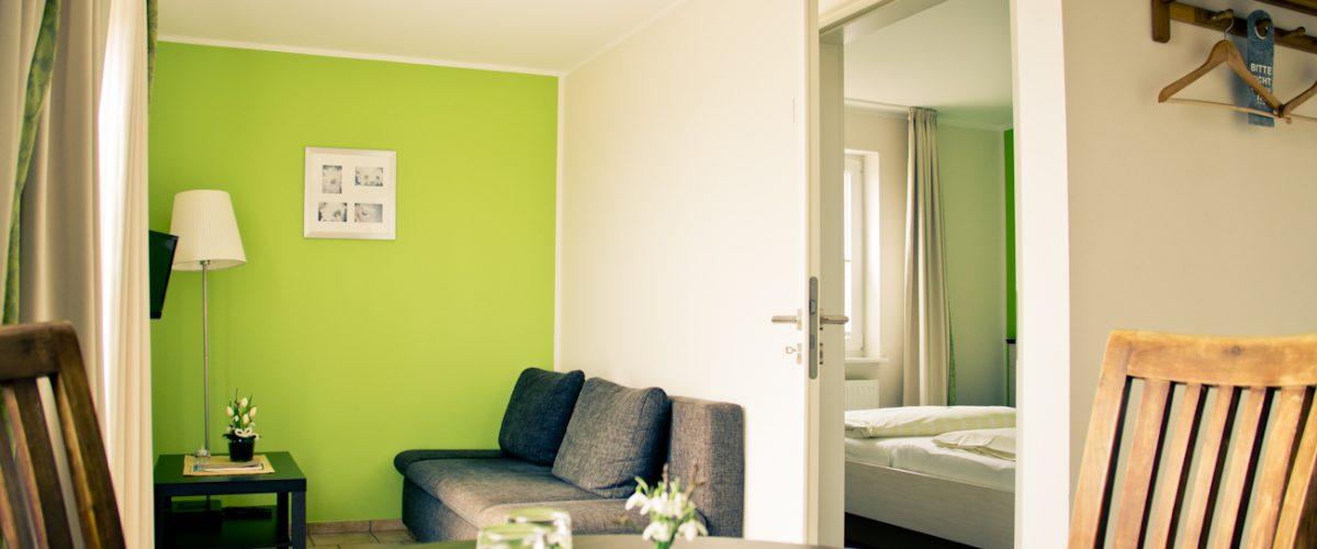 Wohnzimmer eines Appartements in Hotel Fauna